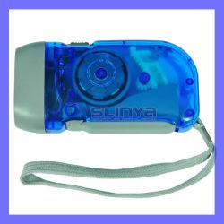 Aucune alimentation 10 Lumière blanche lumin Dynamo 3 LED Lampe torche à manivelle de presse à main
