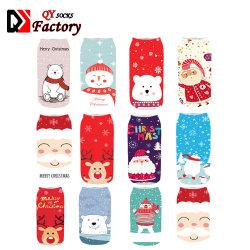 Chaussettes de sublimation 3D de Noël cadeaux de l'impression des femmes Polyester Tube court à la cheville de chaussettes de la bonneterie