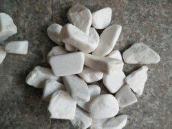 白く自然な玉石、川の石、水晶庭の小石の石