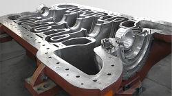 重工業機械のための頑丈な砂型で作る合金鋼鉄ギヤ変速機ハウジング