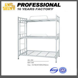鋼鉄 3 層の二段ベッド、学校の家具、軍隊の家具、寮の家具、