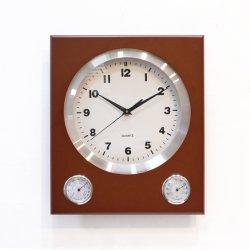 Rond simple horloge murale classique de la température de l'humidité