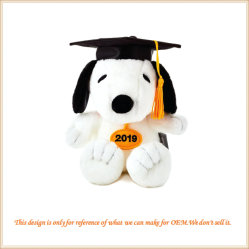 OEM het Promotie Gevulde Stuk speelgoed van de Graduatie Snoopy met Toga en GLB