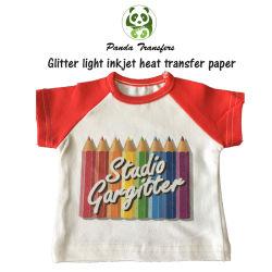 Glitter de transferencia de calor de la luz de inyección de tinta papel tshirt