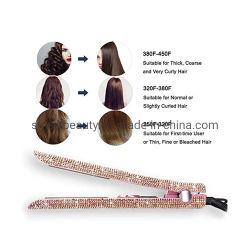 Venta en caliente herramienta para el cabello Bling Flat Plancha Cristal Secador de pelo