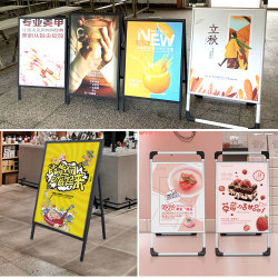 Pavement Sidewalk Sign、Double Sided - Black滑のPostersのための24 x 36 Sidewalk Sign、Frame