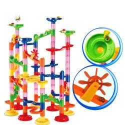 Kit di assemblaggio creativo fai da te Giocattoli a blocco Set di giocattoli pista Blocchi di costruzione di rullo per i bambini che imparano e gioco educativo