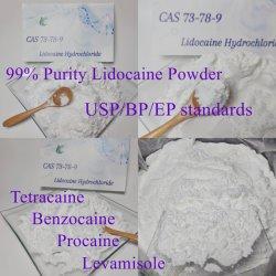 工場供給 99% 高純度現地の麻酔用 Raw 粉末リドカイン塩酸塩 / リドカイン塩酸塩 / リドカイン疼痛緩和 CAS 73-78-9 用 EP/USP/BP