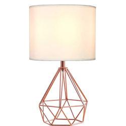 Просто из кованого железа полой Diamond настольный светильник для гостиной с одной спальней оформлены на прикроватном мониторе