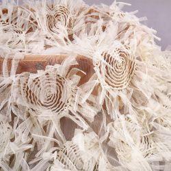 اللباس شبكة الأطفال جوز لاس الزهور قطع اليد حبل التطريز