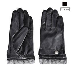Groothandel Goedkope China 5513 warm gevoerde lamshuid voor heren zacht gevoerd Leren handschoenen voor heren