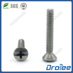 Philips laste Schroef van de Machine van het Roestvrij staal van de Aandrijving Combo de Ovale Hoofd in