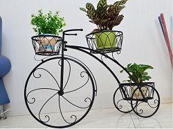 A decoração da casa de triciclo Suporte de Fábrica - Suporte do carrinho do potenciômetro de flores - Ideal para casa e jardim, pátio - grande dom para os amantes de plantas, Housewarming. A ESG10026