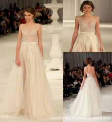 La dentelle robes du soir Sheer l'organza Paolo célébrité de mariée robe de soirée Z503