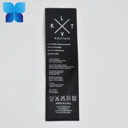 Venda por grosso de vestuário personalizado etiqueta impressa Símbolo de lavar roupas de impressão de cuidados de Rótulo