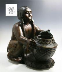 Tamanho da vida nua mulher mantenha Estátua de Vaso Escultura em bronze de Bsg-168