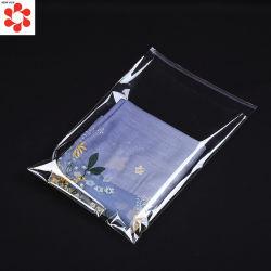 服装の宝石類の包装のためのカスタム透過明確な自己接着OPP CPPの薄板にされたポリ袋
