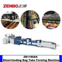 Quadratisches unteres Papierbeutel-Gefäß, das Maschine Zb1180as mit faltender Spitzenfunktion bildet