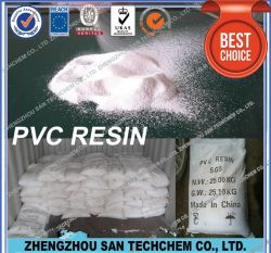 El Cloruro de polivinilo de polvo blanco de resina de PVC SG8