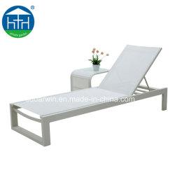 La moda Ocio Jardín mobiliario de patio tejido de malla silla con Certificación SGS tumbonas Chaise