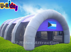 Material Waterproodf roxo almofada insuflável tenda Paintball