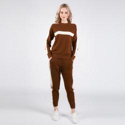 2019 Nouvelle arrivée 100% cachemire pullover avec pantalon de loisirs, costume de Cachemire