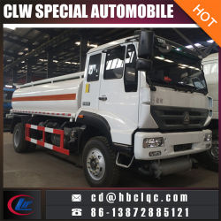 Sino Huanghe 15m3 16m3 석유 탱크 연료 수송 트럭