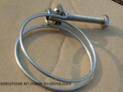 Cable de doble tornillo de abrazadera del tubo Abrazaderas de manguera