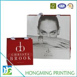 La lamination matte personnalisé sac cadeau cosmétique de l'emballage du papier