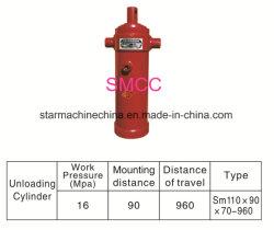 Equipmwnt elevação do cilindro hidráulico em três fases para Reboque de caixa basculante