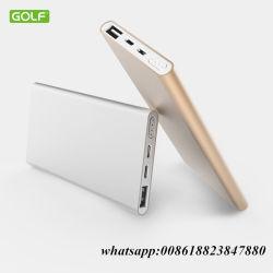 Chargeur portable 5000mAh Réel 2 Port d'entrée de la Banque d'alimentation batterie externe Design ultra fin mince Powerbank Backup pour iPhone 7 6s 6 Plus tablette iPad 5S Samsung