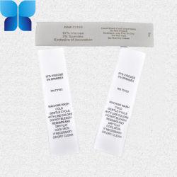 Double côté écologique Dmask Satin étiquette de lavage du vêtement d'impression personnalisée
