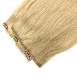 かつらのRemyブラジルの自然なクリップ人間の毛髪の拡張のクリップ