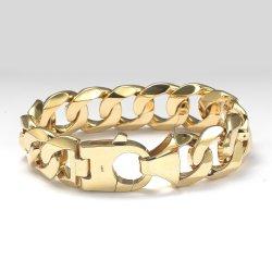 925 فضة [سليد غلد] [مونوك] ميامي [هي ند] كوبيّ 8.5 بوصات نمط مجوهرات