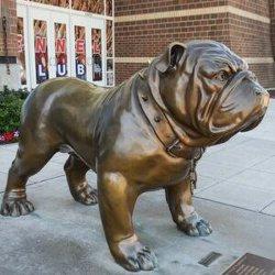 Scultura animale Bbsr-13 della grande del metallo del rifornimento della fabbrica del pezzo fuso del bronzo statua del bulldog