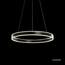 Um LED de cor preta do anel de luz modernos de acrílico