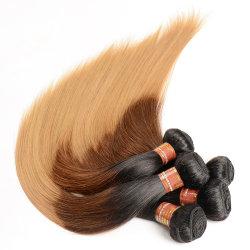 """Женщин волосы Омбре 3 комплектов 8-30""""дюйм T1b/27 бразильских прямой Реми прав волосы вьются"""