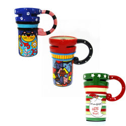 Curso de Cerâmica canecas canecas de cerâmica pintada Dom Desporto Caneca Caneca caneca de presentes de Natal