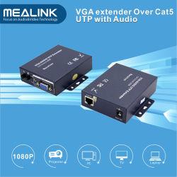 Vga-Ergänzung 200m über Cat5e UTP Kabel mit dem 3.5mm Audio