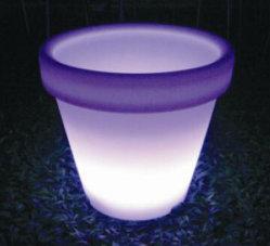 Outdoor Solar Powered Led Flower Pots Lights, Plant Pots For Garden A Buon Mercato