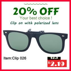 Clip polarisée circulaire sur des lunettes 3D
