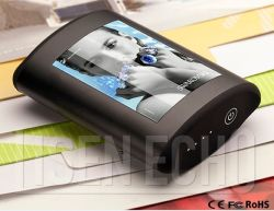 Ultimo Alto-End Gift Design 6600mAh Cell Wireless Phone Charger Device con Arc Advertizing Screen