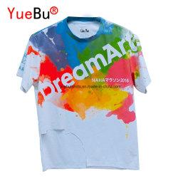 Magliette personalizzate promozionali del cotone e del poliestere di stampa di sublimazione con il vostro marchio