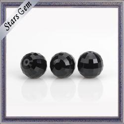 parels van de Halfedelsteen van het Glas van het Kristal van de Lage Prijs van de Kleur van 9mm de Zwarte
