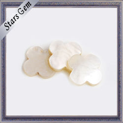 White naturale Beautiful Flower Shape Shell per Jewelry