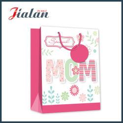 210g Cartão Branco laminado impressa inteira Dia da Mãe Saco de papel