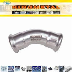 Edelstahl 304, 316L Press Fitting Compression 45 Degree Elbow