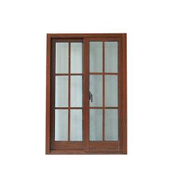 Couleur du bois fenêtres en aluminium avec un seul verre