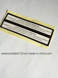 De afdrukkende Sticker van het Etiket voor Nota's