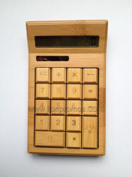 Eco Friendly cadeau d'affaires Bureau vert bambou Calculatrice CS19